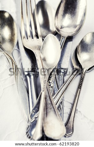 Vintage spoons, forks and knifes