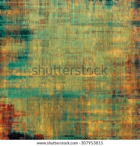 Vintage spotted textured background. With different color patterns: yellow (beige); brown; red (orange); cyan - stock photo