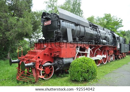 Vintage Steam engine locomotive train, Resita, Romania - stock photo