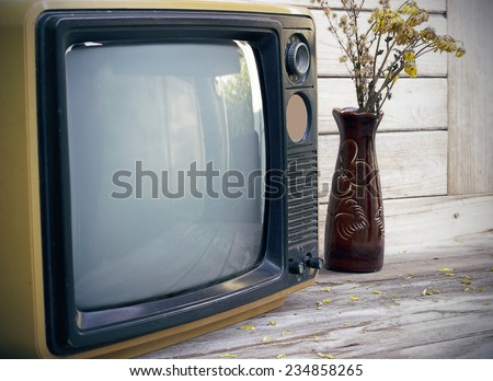 Vintage,Still Life old TV