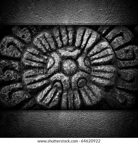 vintage stone carving - stock photo