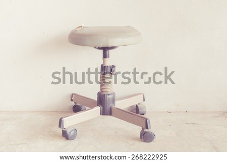 vintage stool with retro filter effect - stock photo
