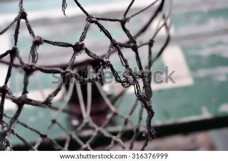 vintage street-ball basket - stock photo