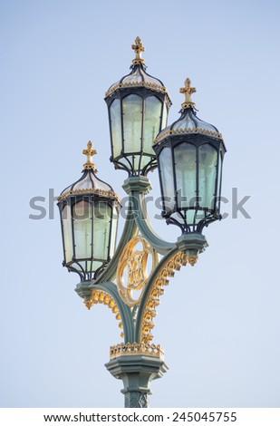 Vintage street lantern - stock photo