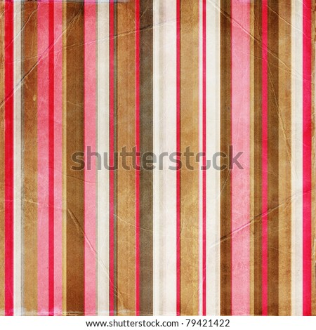 vintage striped paper - stock photo