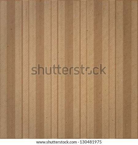 vintage stripes over cardboard texture - stock photo