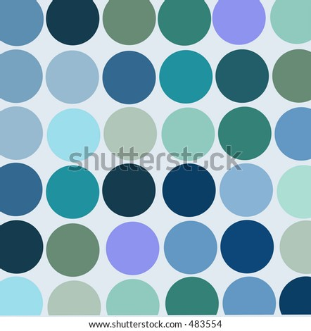 Vintage style blue wallpaper - stock photo