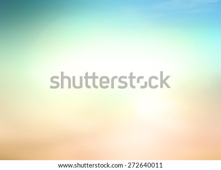 Vintage Style Blur Beach Backdrop. Bright, Sun, Sandy, Sea, Bokeh, Flare, Surf, Soft, Zen, Glow, Ocean, Wave, Clear, Retro, Relax, Shine, Light, Pastel, Fresh, Smooth, Horizon, Air, Park. - stock photo