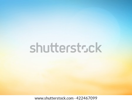 Vintage Style Blur Sun Sand Sea Flare Surf Soft Zen Glow Wave Clear Retro Aqua Relax Shine Light Clean Pastel Fresh Bless Orange Air Park Blue Sunny Beauty Surf Calm Colour Golden Heart Peace Natural. - stock photo