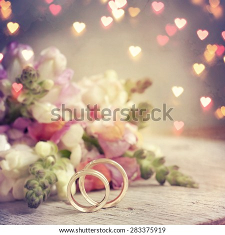 Vintage style, bouquet of snapdragon, spring flowers - stock photo