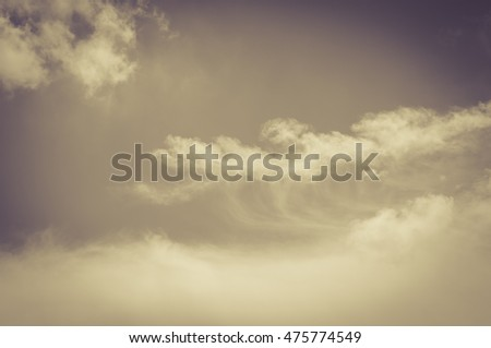 Vintage style Cloud and sky.background