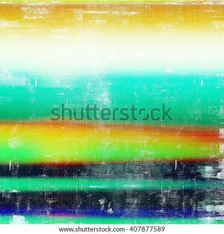 Vintage style designed background, scratched grungy texture with different color patterns: yellow (beige); red (orange); green; blue; white - stock photo