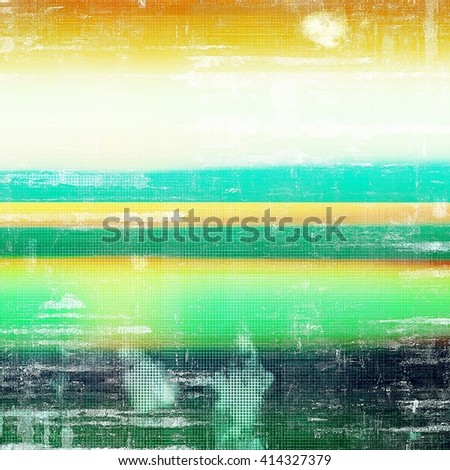 Vintage style designed background, scratched grungy texture with different color patterns: yellow (beige); green; blue; red (orange); white - stock photo