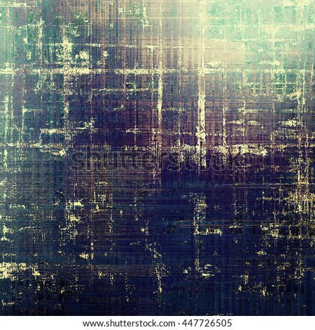 Vintage style designed background, scratched grungy texture with different color patterns: yellow (beige); brown; blue; black; gray; purple (violet) - stock photo