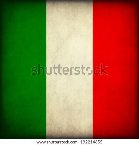 Vintage style. Grunge Flag of Italy - stock photo
