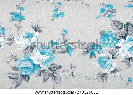 vintage style of tapestry flowers fabric pattern background - stock photo