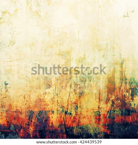 Vintage style shabby texture or background with classy grungy elements and different color patterns: yellow (beige); green; blue; red (orange); purple (violet); white - stock photo