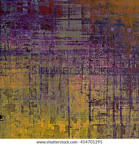 Vintage style shabby texture or background with classy grungy elements and different color patterns: yellow (beige); brown; blue; red (orange); purple (violet); pink - stock photo