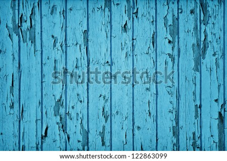 Vintage Style Wood Teal Blue color - stock photo