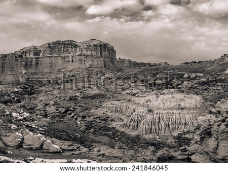 Vintage Styled Desert Landscape - stock photo