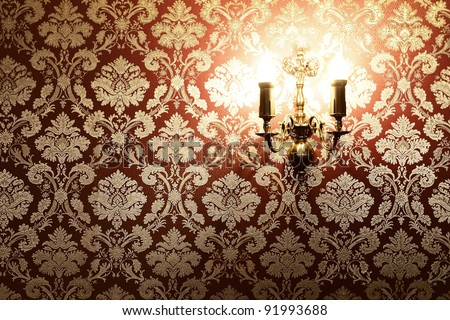 Vintage stylish interior with copy space - stock photo
