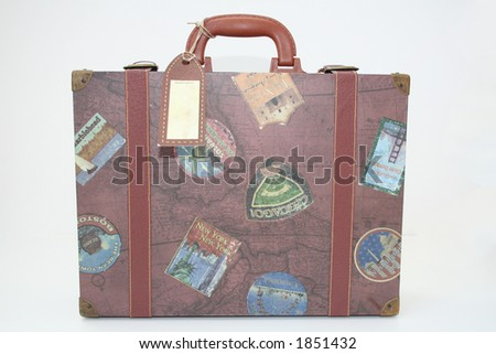 vintage suit case - stock photo