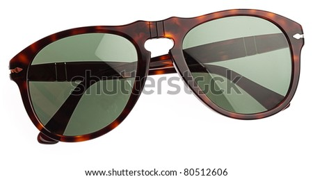 vintage sunglasses isolated on a white background