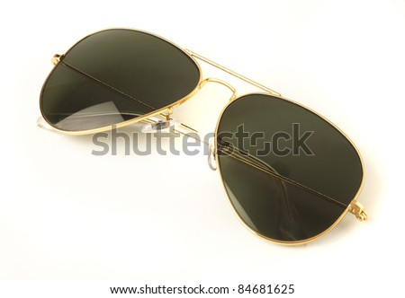 vintage sunglasses isolated on a white background - stock photo
