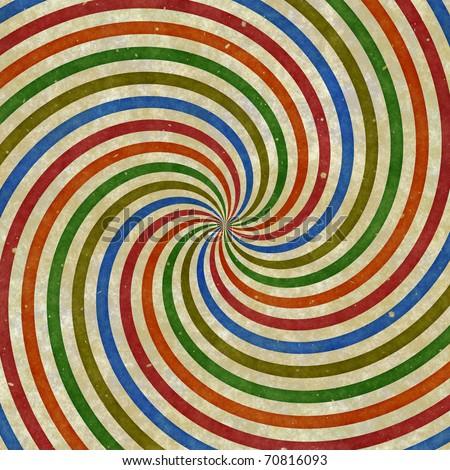 Vintage swirling rays illustration - stock photo