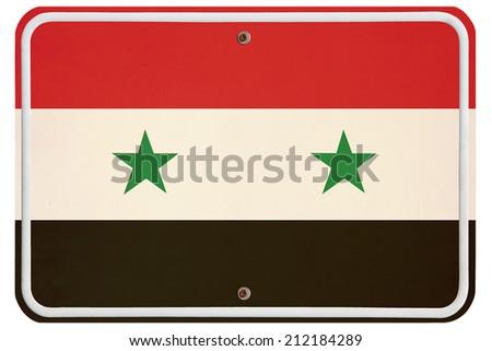 Vintage Syria metal sign - stock photo