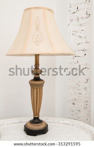 vintage table lamp.(Closeup)