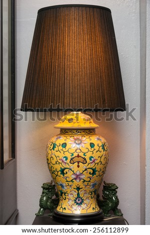 Vintage table lamp , interior design for house improvement - stock photo
