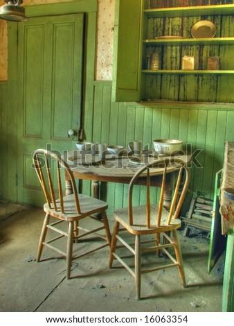 Vintage Table Setting - stock photo