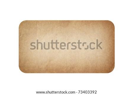Vintage tag isolated on white background - stock photo