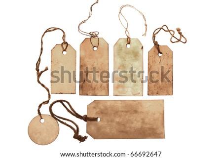 Vintage tags - stock photo