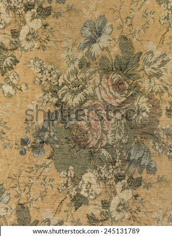 Vintage Tapestry Floral Fabric  - stock photo