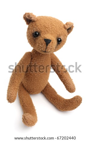 Vintage Teddy Bear isolated on white