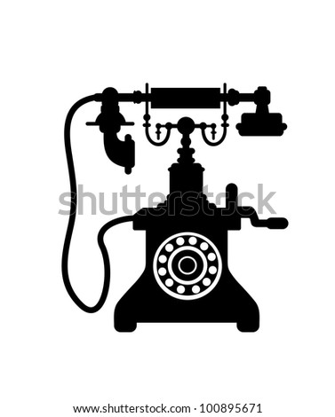 Vintage telephone isolated on white. Vector version also available in gallery