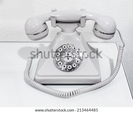 Vintage telephone on a table