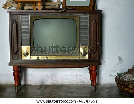Vintage television - stock photo