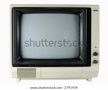 Vintage television isolated over a white background