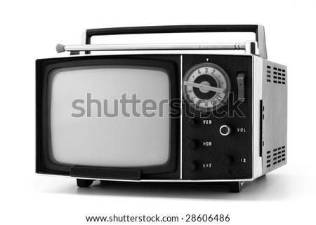 vintage television set - stock photo