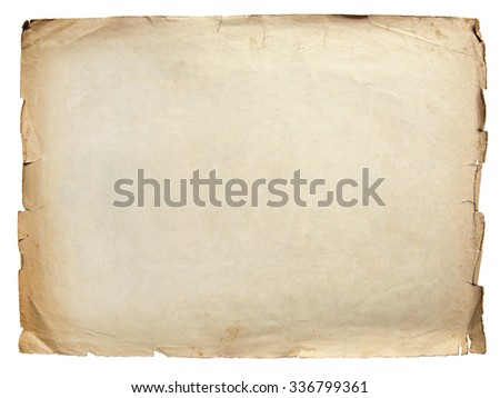Vintage texture old paper background isolated on white - stock photo