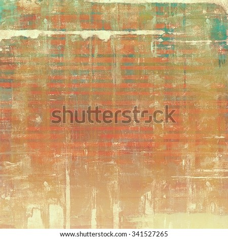 Vintage texture. With different color patterns: yellow (beige); brown; green; red (orange) - stock photo