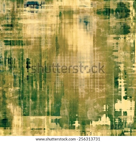 Vintage textured background. With different color patterns: yellow (beige); brown; gray; green - stock photo