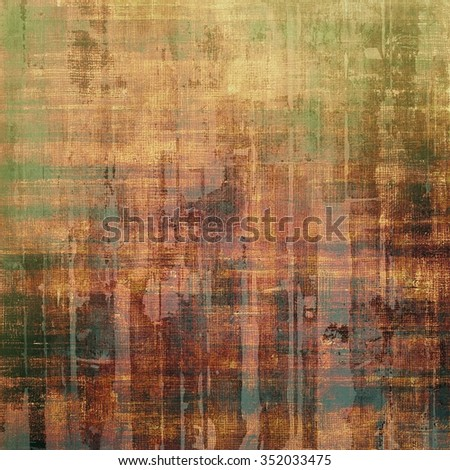 Vintage textured background. With different color patterns: yellow (beige); brown; green; black - stock photo