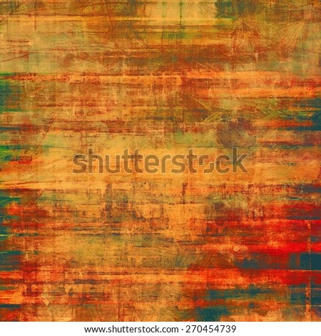 Vintage textured background. With different color patterns: yellow (beige); brown; green; red (orange) - stock photo