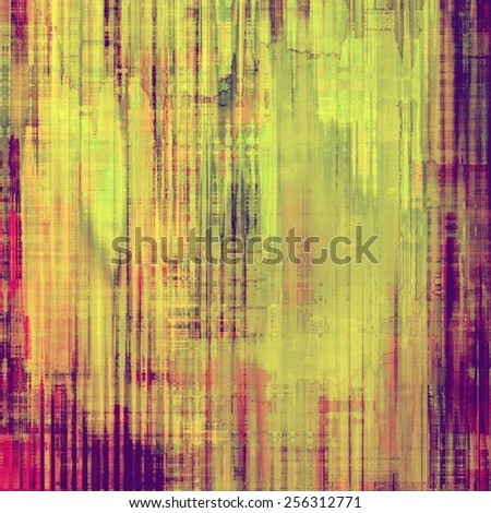 Vintage textured background. With different color patterns: yellow (beige); purple (violet); pink; green - stock photo