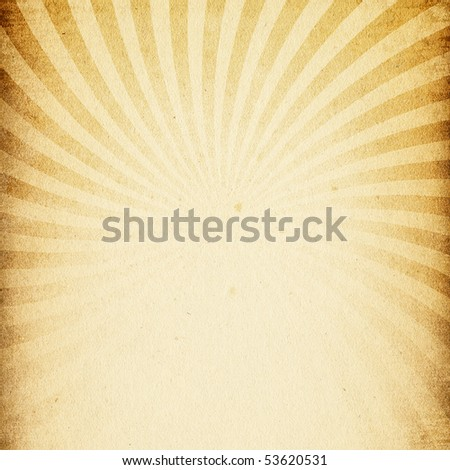 Vintage textured paper with rays image.