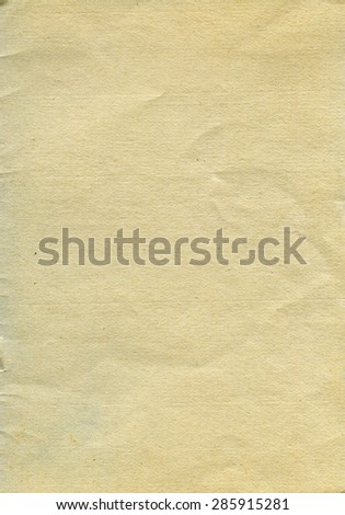 Vintage textured rough recycled retro paper with natural fiber parts - stock photo